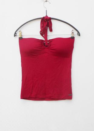 Летняя облегаюжая трикотажная блузка  маечка бюстье из вискозы