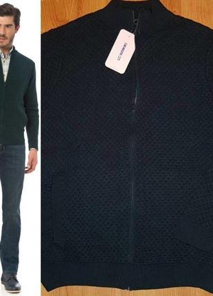 Мужская зеленая кофта lc waikiki / лс вайкики на молнии, с карманами