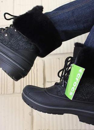 Продам сапоги crocs allcast ii luxe крокс женские зимние новые