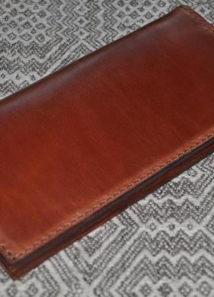 Тревел-кошелек из натуральной кожи ручной работы.