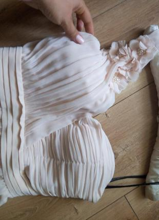 Шикарное платье цвета чайной розы м-ка little misters