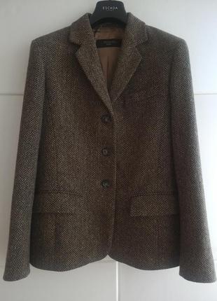 Пиджак max mara (100% шерсть ланы)