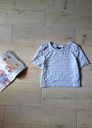 Укороченная футболка нежного голубого цвета кроп топ р. xs-s