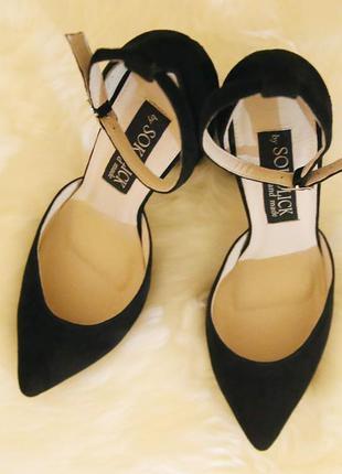 Женские замшевые туфли sokolick, стильные элегантные туфли9 фото