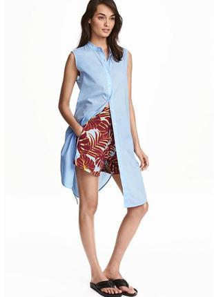 Удлинённая блуза - туника h&m. 100% хлопок!
