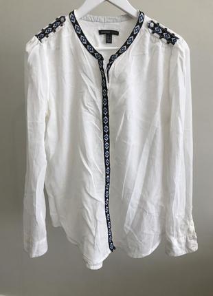 Рубашка/блузка mango с вышивкой