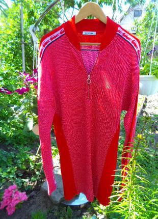 Мега при мега шикардовая вещь/нежный и очень мягкий шерстьяной свитер/туника эм/эл