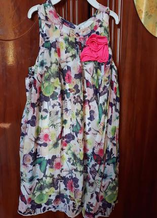 Шифоное платье плиссе