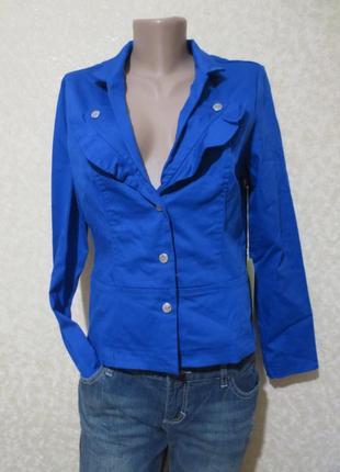 Яркий синий пиджак meech&mea