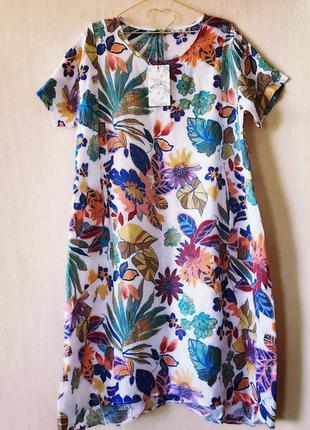 Платье лён идеальное