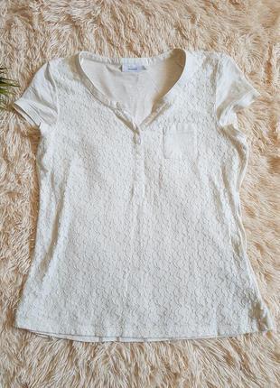 Нежная хлопковая футболка кофточка yessica c&a