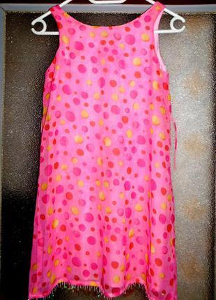 Платье летнее на девочку, покупали в италии, 12...длина 77 см