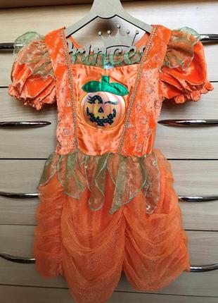 Карнавальный костюм, платье на хэллоуин george, тыква, 1-2 года, 80-92 см