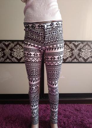 Чорно-білі штани, джинс, джинс