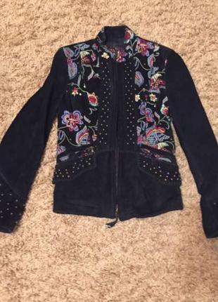 Куртка замшевая с вышивкой