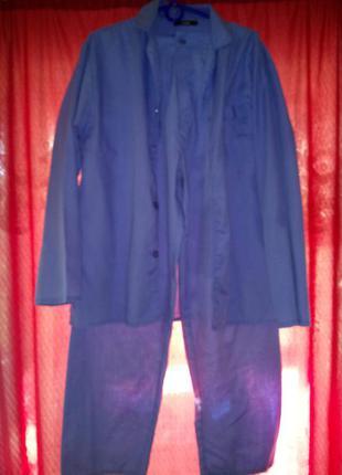 Мужская пижама на пуговицах с брюками.м