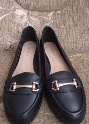Кожани туфли балетки