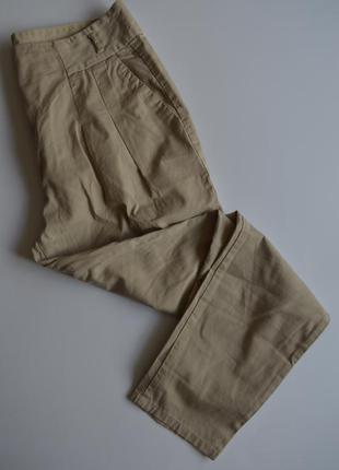 Коттоновые летние брюки zara basic размер s