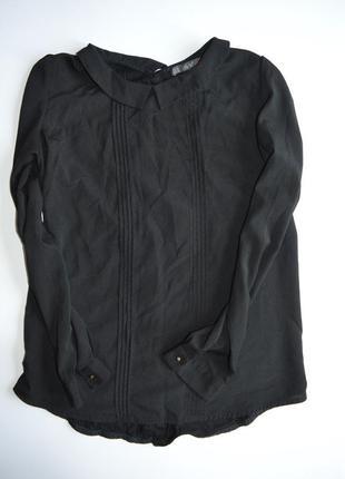 Черная базовая блуза рубашка dilvin сзади на пуговицы
