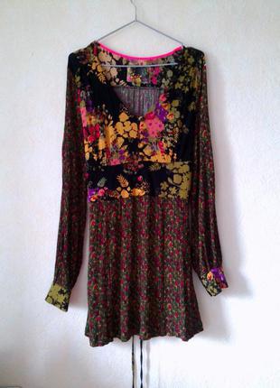 Новое текстурированное платье с принтом next 18 uk