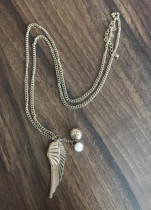 Кулон на цепочке ожерелье подвеска крылья