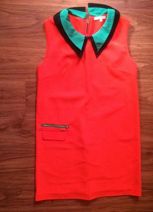 Яркое оранжевое платье celine