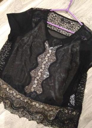 Красивая блуза кружево и шифон