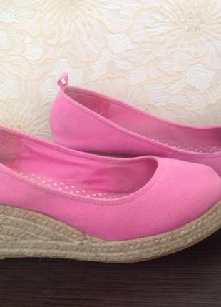Туфли на плетенной подошве,текстиль,  38
