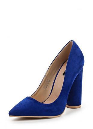 Синие замшевые туфли lost ink