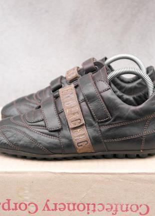 Bikkembergs р.38-24(24,5)см кожаные туфли.