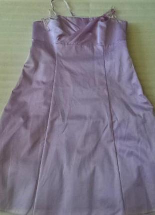 Бально-выпускное,атласное платье