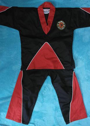 Кимоно куртка+штаны для карате дзюдо айкидо rupla рост 120