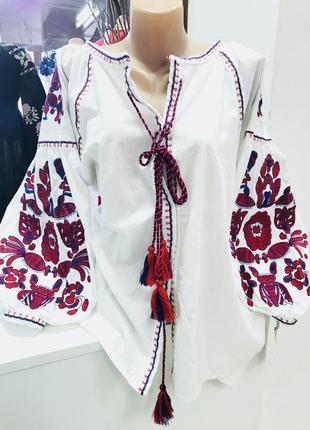 Шикарная блуза в стиле бохо с вышивкой вышиванка вишиванка