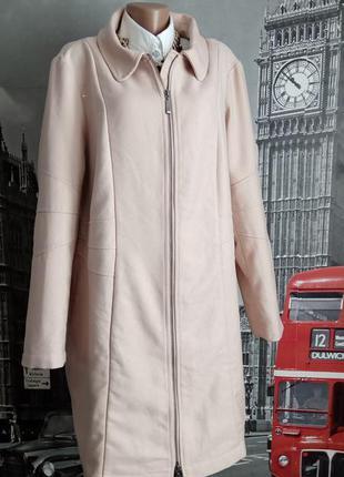Пудрове легке пальто без підкладки
