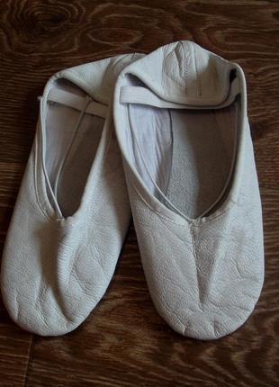 Кожаные балетки дл 24 см