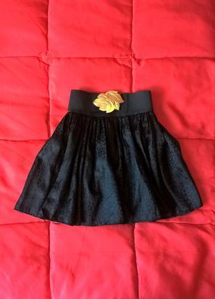 Пышная юбка с поясом на резинке