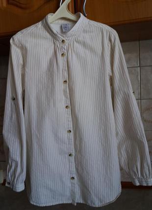 Блузка/рубашка zara kids на девочку 7-8 лет/рост 128см
