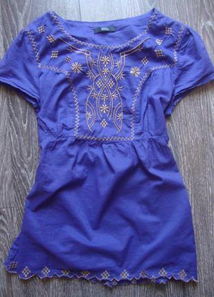 Хлопковая блуза, размер 10