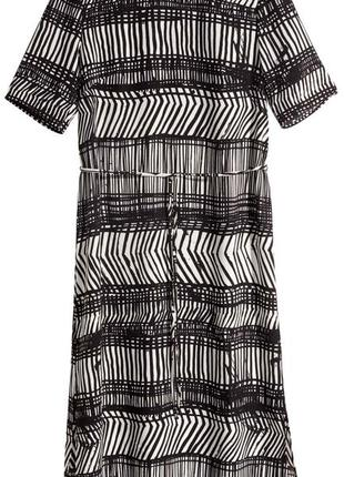 Черно-белое платье h&m