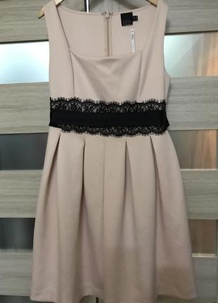 Шикарное пудровое платье asos