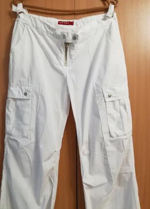 Белые летние штаны yes miss, размер xl