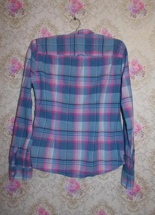 Красивая рубашка в клетку h&m3 фото
