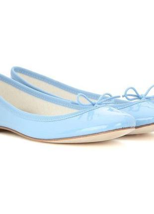 Милые лаковые небесно/бледно/нежно голубые мягкие балетки new look