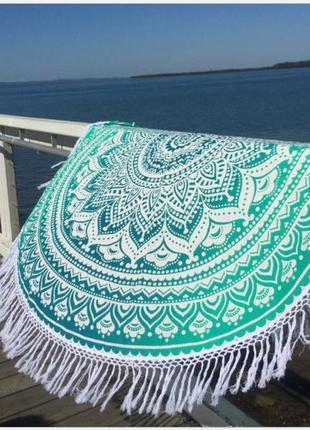 Летний пляжный коврик бирюза