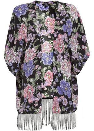Легкое кимоно/накидка с бахромой от new look