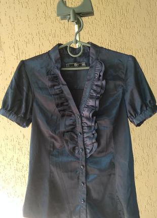 Атласная блузка zara trf
