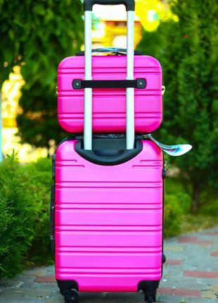 Набор❤️airtex world line франция чемодан для ручной клади + бьюти кейс валіза