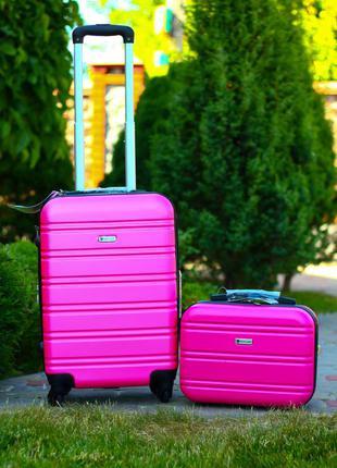 Airtex world line франция чемодан из поликарбоната для ручной клади + бьюти кейс валіза