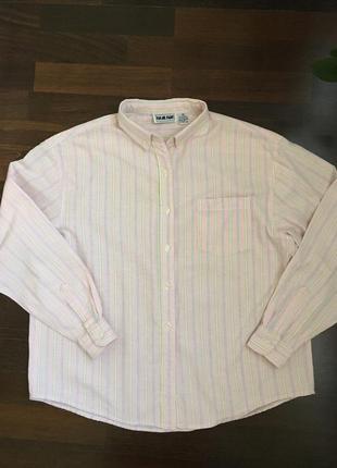 Рубашка color code розовая с полоску