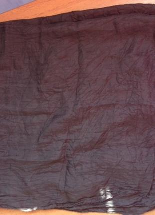 Чёрный платок шарф платочек бандана черная шарфик легкий